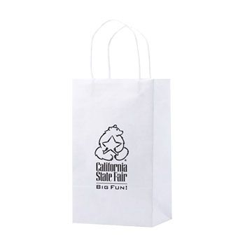 Imprinted Recycled White Shopping Bags - thumbnail view 2