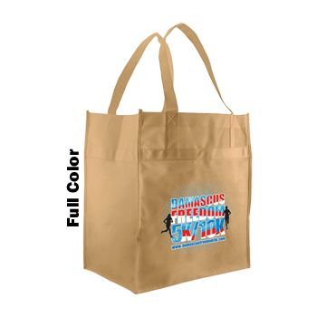 Imprinted Econo Grocery Totes - thumbnail view 2