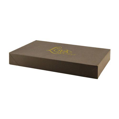 Imprinted Tinted Kraft Apparel Boxes - detailed view 3