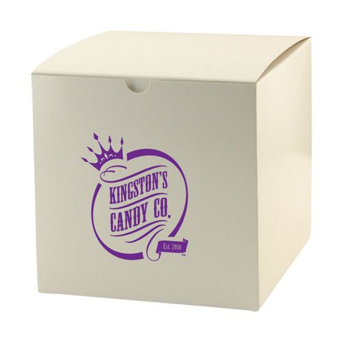 Imprinted White Gloss Gift Boxes - detailed view 4