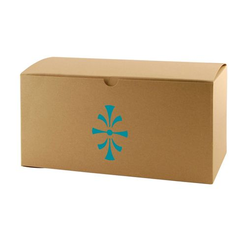 Imprinted Natural Kraft Gift Boxes - detailed view 4
