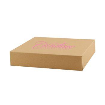 Imprinted Natural Kraft Gift Boxes - thumbnail view 5