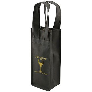 Imprinted 1 Bottle Non-Woven Tote - thumbnail view 2