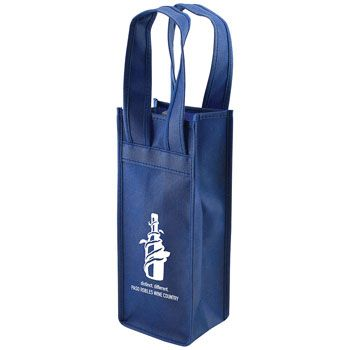 Imprinted 1 Bottle Non-Woven Tote - thumbnail view 3