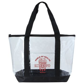 Imprinted Clear Boat Tote - thumbnail view 1