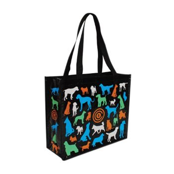 Imported Gloss & Matte Woven Totes - thumbnail view 1