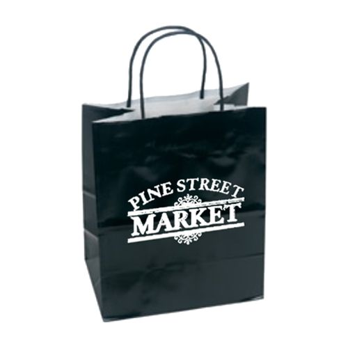 Imprinted High Gloss Paper Shopping Bags - detailed view 1