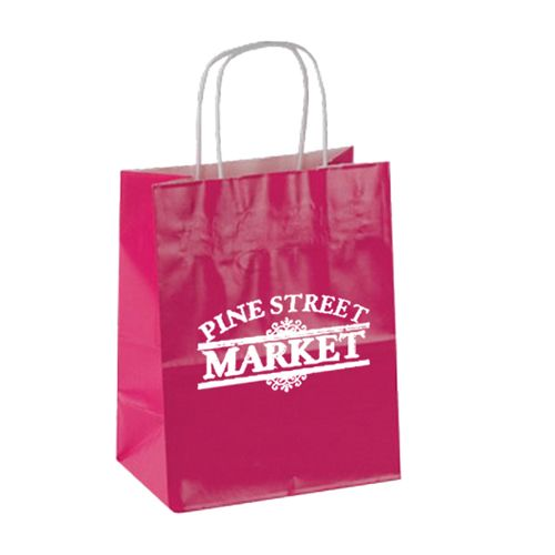 Imprinted High Gloss Paper Shopping Bags - detailed view 3