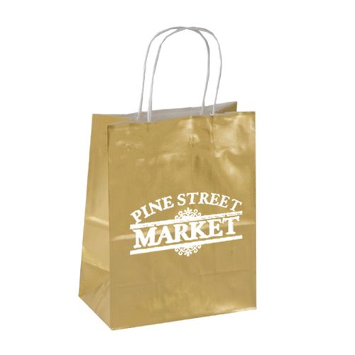Imprinted High Gloss Paper Shopping Bags - detailed view 4