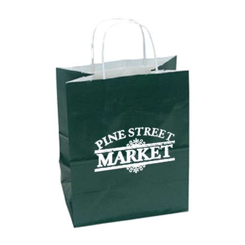 Imprinted High Gloss Paper Shopping Bags - detailed view 5