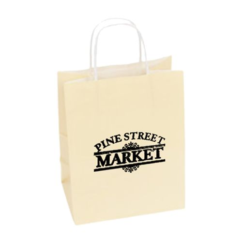Imprinted High Gloss Paper Shopping Bags - detailed view 6