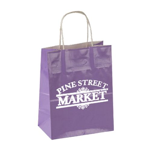 Imprinted High Gloss Paper Shopping Bags - detailed view 7