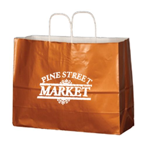 Imprinted High Gloss Paper Shopping Bags - detailed view 9