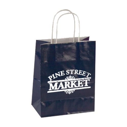 Imprinted High Gloss Paper Shopping Bags - detailed view 10