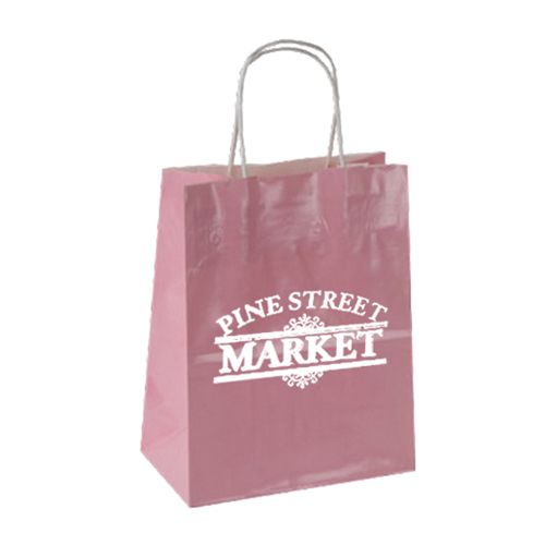 Imprinted High Gloss Paper Shopping Bags - detailed view 11