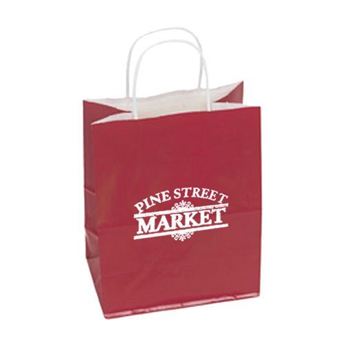 Imprinted High Gloss Paper Shopping Bags - detailed view 12
