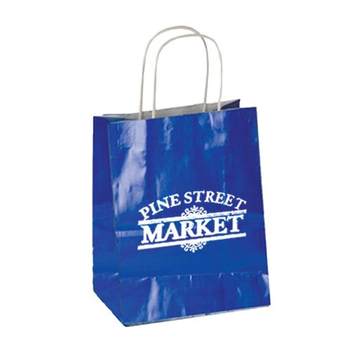 Imprinted High Gloss Paper Shopping Bags - detailed view 13