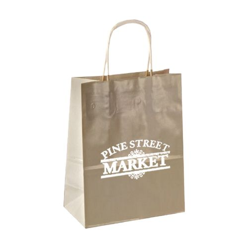 Imprinted High Gloss Paper Shopping Bags - detailed view 15