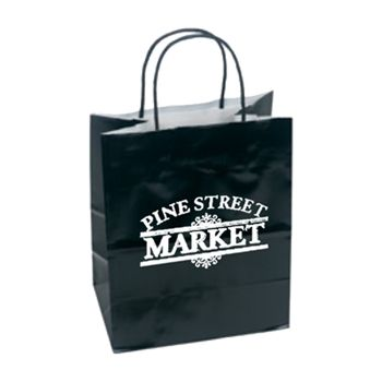 Imprinted High Gloss Paper Shopping Bags - thumbnail view 1