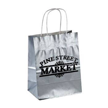 Imprinted High Gloss Paper Shopping Bags - thumbnail view 2