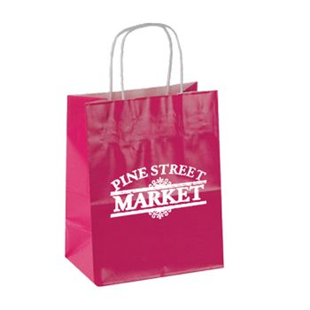 Imprinted High Gloss Paper Shopping Bags - thumbnail view 3