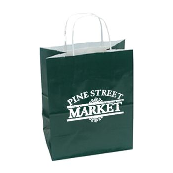 Imprinted High Gloss Paper Shopping Bags - thumbnail view 5