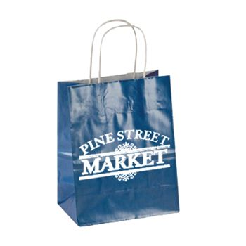 Imprinted High Gloss Paper Shopping Bags - thumbnail view 8