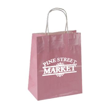 Imprinted High Gloss Paper Shopping Bags - thumbnail view 11