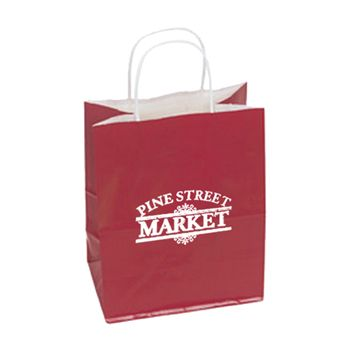 Imprinted High Gloss Paper Shopping Bags - thumbnail view 12