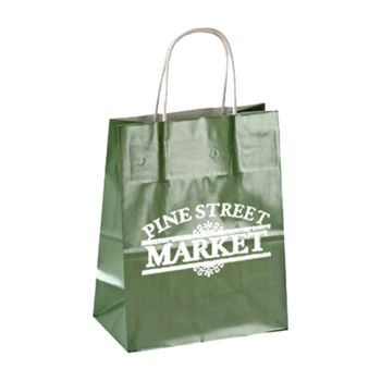 Imprinted High Gloss Paper Shopping Bags - thumbnail view 14