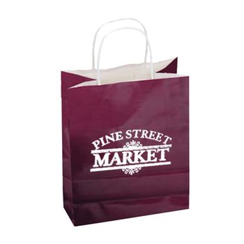 Imprinted High Gloss Paper Shopping Bags - thumbnail view 17